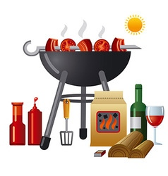 Barbecue equipment vector