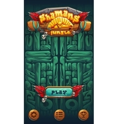 Jungle shamans mobile gui play vector