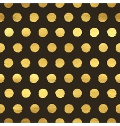 Geometric golden polka dot seamless pattern vector image