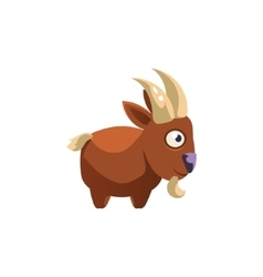 Goat simplified cute vector