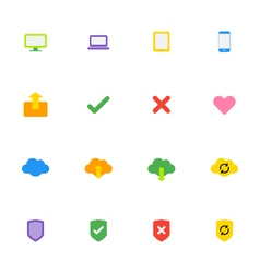 colorful web icon set vector image