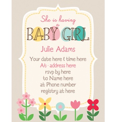 Baby-shower woodland-flower vector