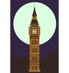 Big Ben at Midnight vector image vector image