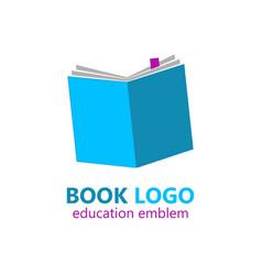 Book logo template vector
