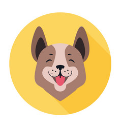 central asian shepherd dog flat icon doggy head vector image