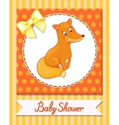 Cute fox baby isolated caracter animal vector