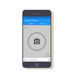 design of the mobile application interface the vector image vector image