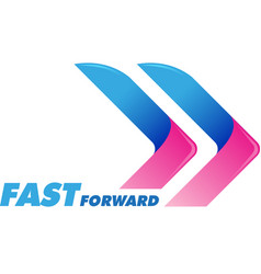 fast forward symbol vector image vector image