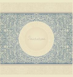 floral retro invitation card vector image vector image