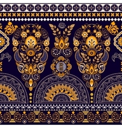 Floral wallpaper Colorful Paisley border vector image