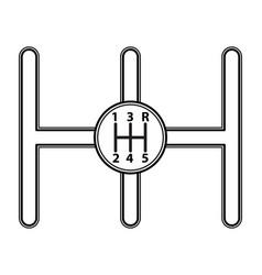 Gear box icon vector