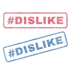 Hashtag dislike textile stamps vector