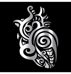 Heart Tribal pattern vector image