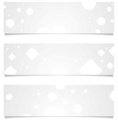 Light grey tech geometric banners vector