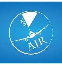 Modern Minimalistic Airplane Company Logo vector image