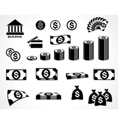 Money symbols vector