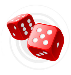 red dices vector image vector image