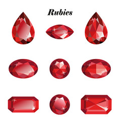 rubies set isolated vector image vector image