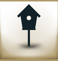 simple bird house vector image vector image