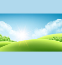 summer nature sunrise background a landscape with vector image vector image