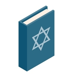 The book of judaism isometric 3d icon vector