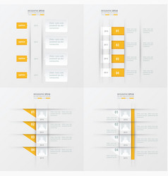 timeline design 4 item yellow color vector image vector image