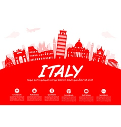 Italy travel vector