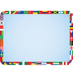 World flags frame vector