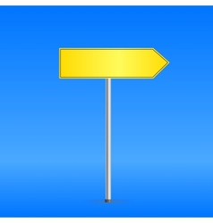 Yellow road sign vector