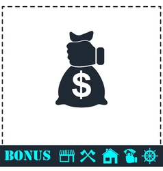 Robbery icon flat vector image
