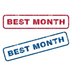 Best month rubber stamps vector