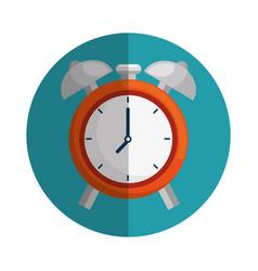 clock alarm isolated icon vector image