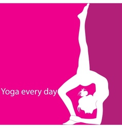 Yoga every day vector image