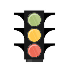 Traffic light single flat icon on white vector