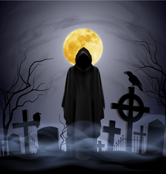 Night cemetery vector