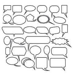 Chat bubble icon set vector