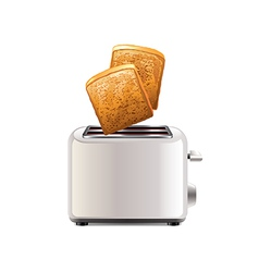 Toaster with toast isolated vector