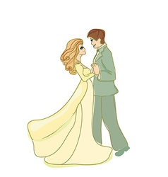 Wedding dancing couple vector