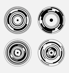 Abstract technology signs - futuristic circles vector