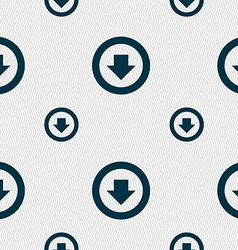 Arrow down download load backup icon sign seamless vector