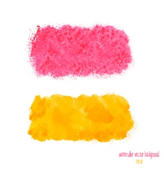 Yellow and pink watercolor banner vector