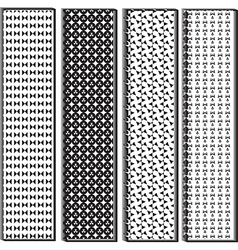 Black and white variety shape pattern vector