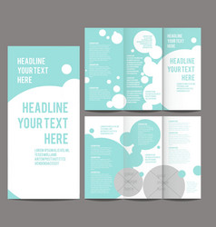 Tri-fold brochure and catalog concept vector