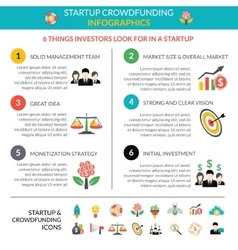 Business startup crowdfunding infographic layout vector