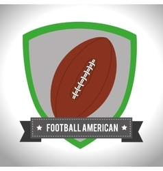 American football sport game vector