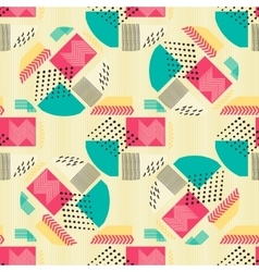 Abstract seamless pattern with geometric figures vector
