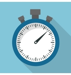 Time design chronometer icon flat vector
