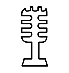Retro microphone isolated icon design vector