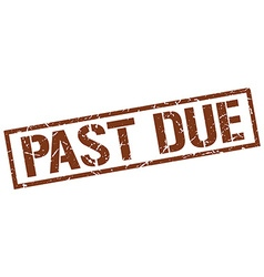 Past due stamp vector