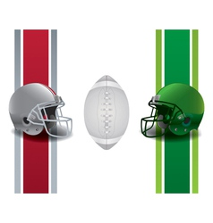 American football national championship matchup vector